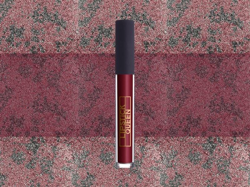 trucco rosso bordeaux lipgloss lipstick queen