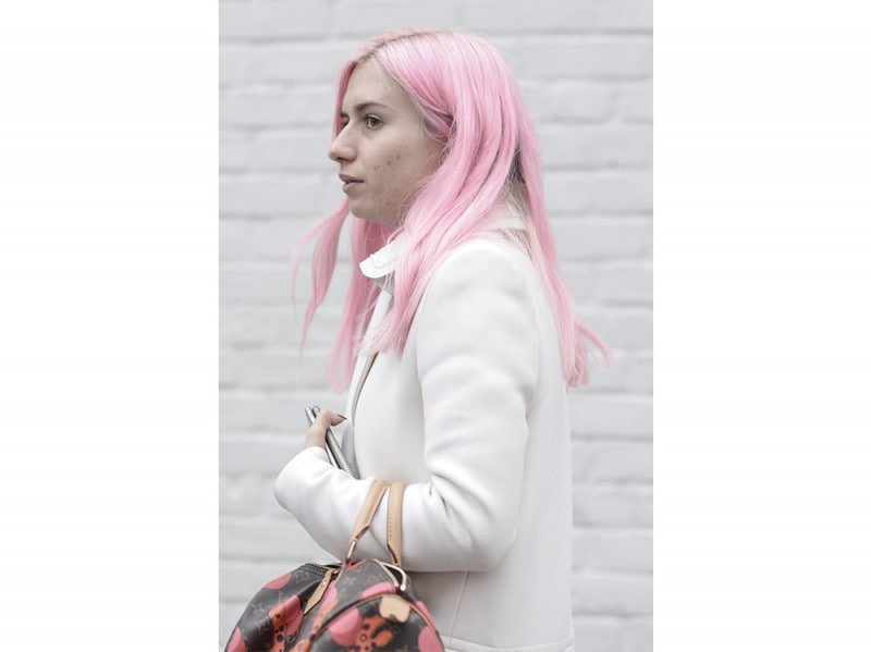 capelli rosa pastello street people