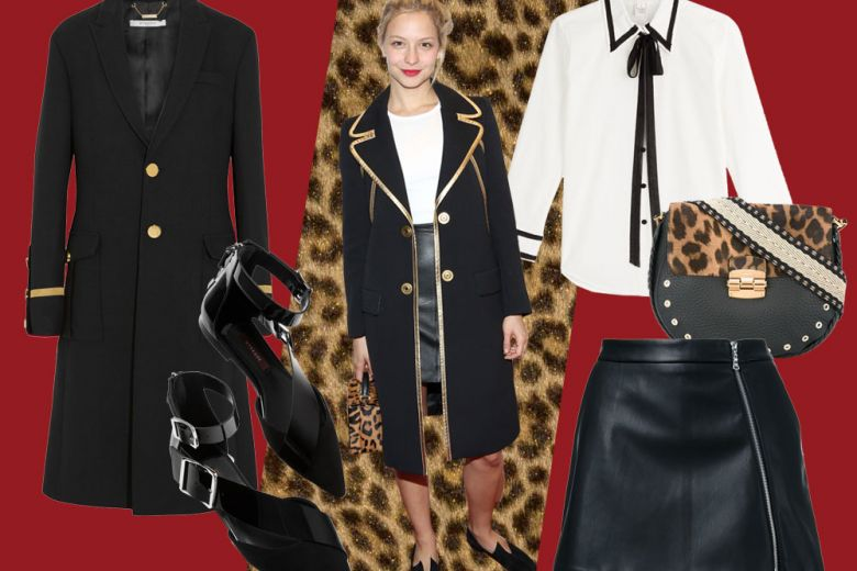 Il look military-animalier di Annabelle Dexter-Jones