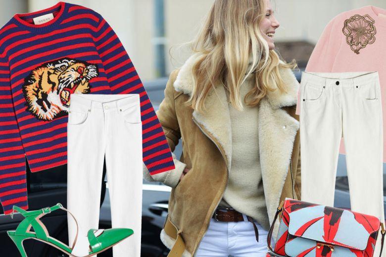 Come abbinare i jeans bianchi
