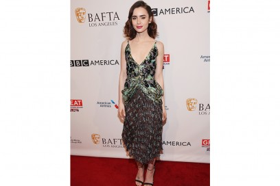 Lily Collins_bafta tea party