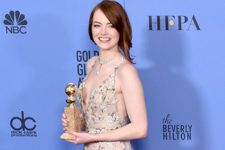 Emma Stone: i migliori beauty look della protagonista dei Golden Globe