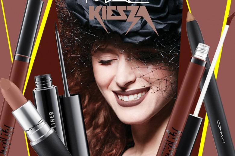 Kiesza trucco: labbra marroni ed eyeliner per la cantante eclettica
