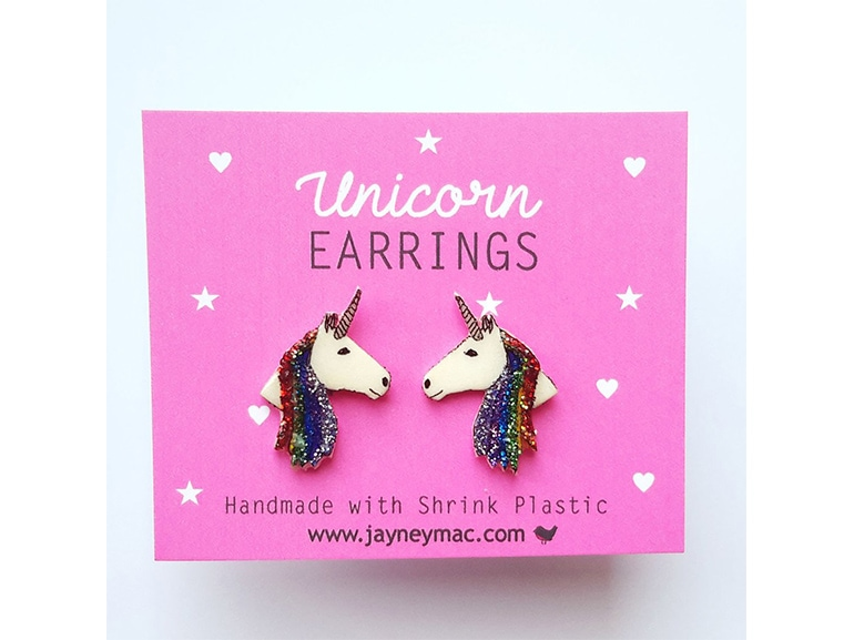 orecchini unicorni