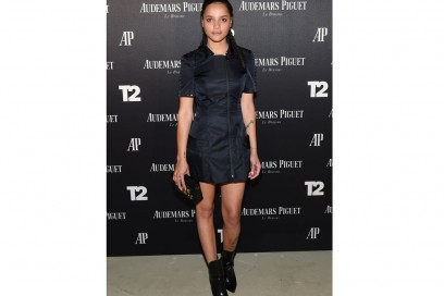 sasha lane louis vuitton corto blu