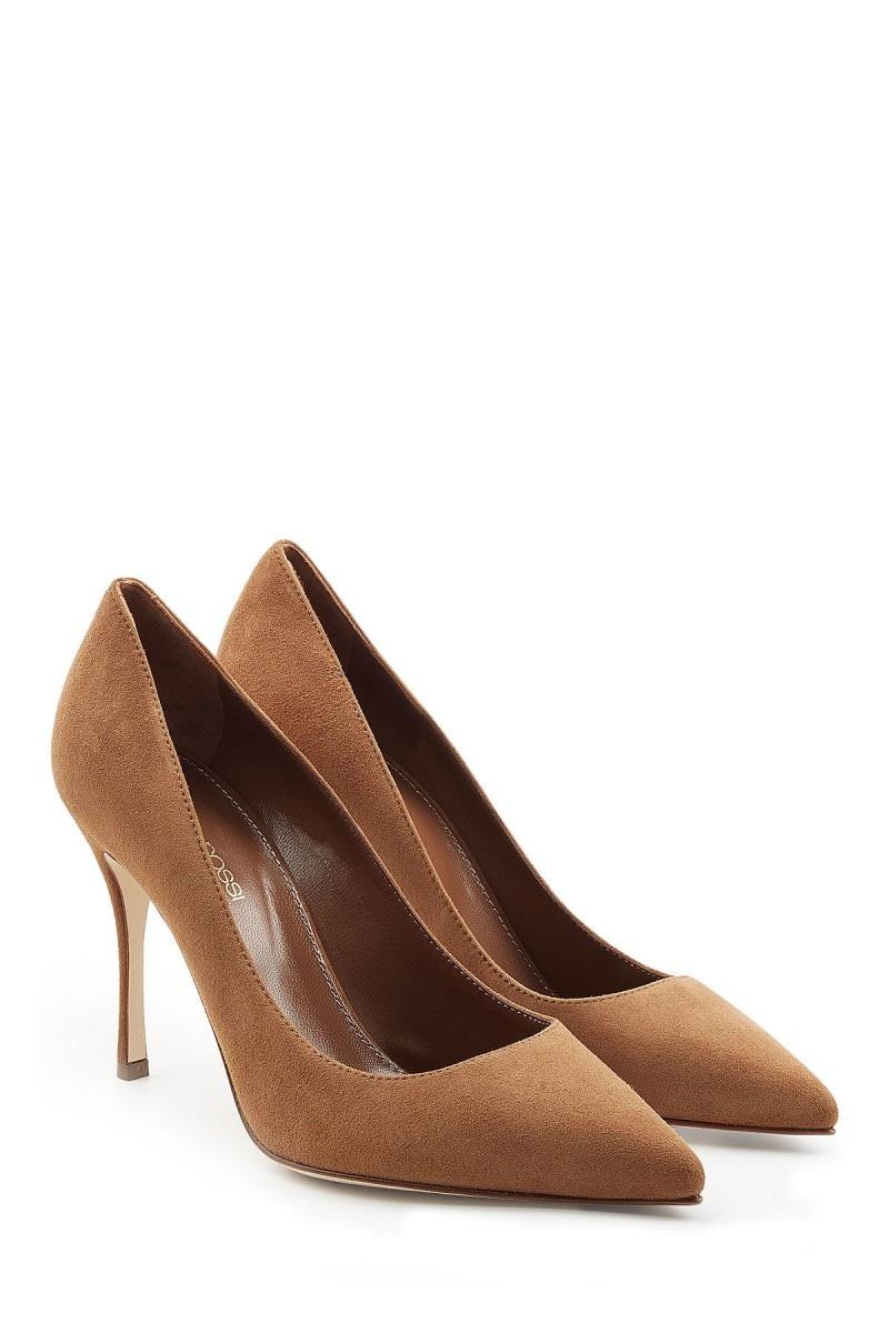 sergio rossi scarpe camoscio marrone