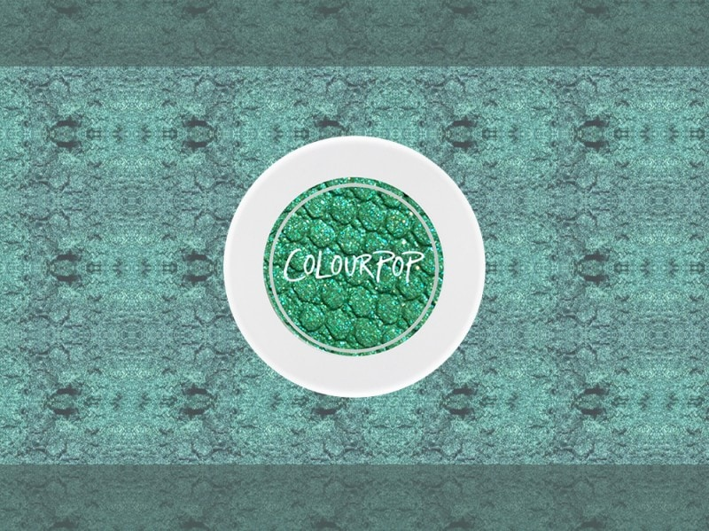 trucco verde smeraldo ombretto colour pop