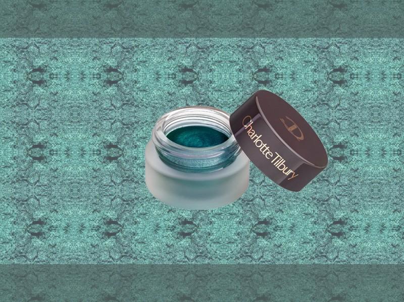 trucco verde smeraldo ombretto in crema charlotte tilbury