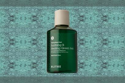 trucco verde smerlado maschera viso liquida