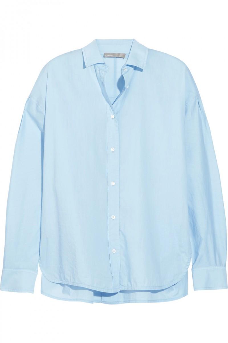 vince camicia azzurra