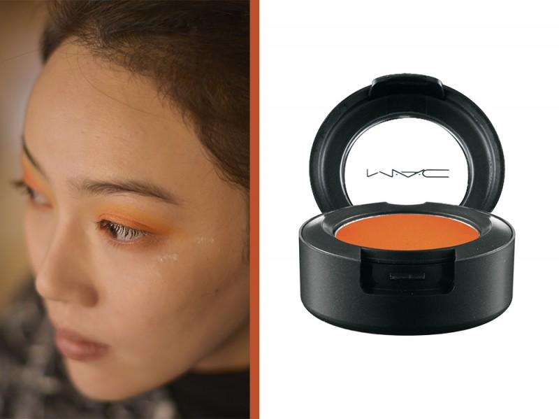 ombretto arancione mac