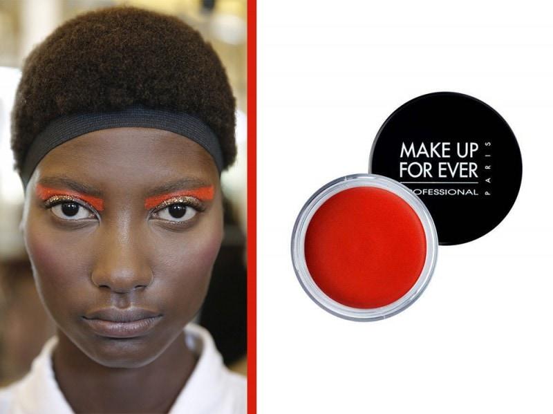 ombretto arancione make up for ever