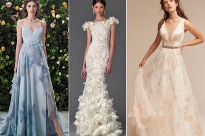Gli abiti da sposa a fiori