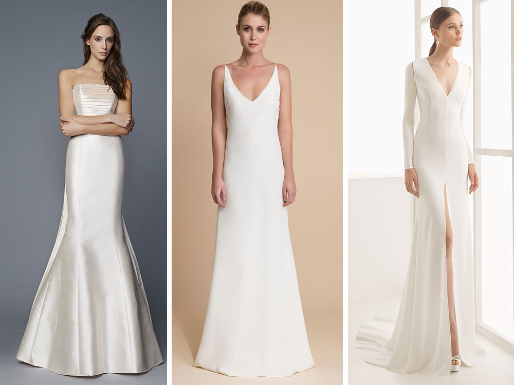 Abiti da sposa semplici 20 proposte minimal chic for Stile minimal vestiti