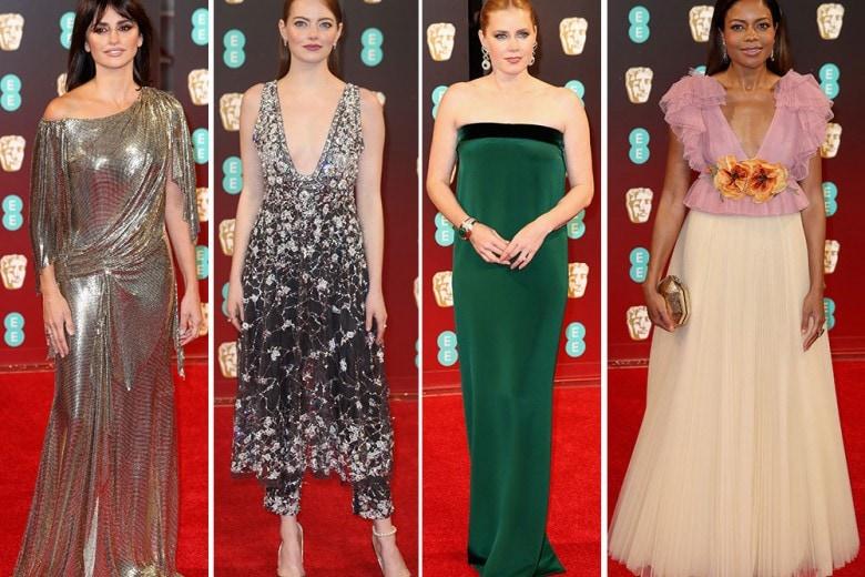 Gli abiti delle star ai BAFTA 2017