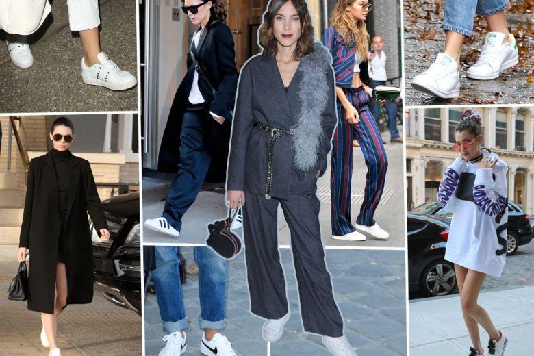 Sneakers bianche: le preferite delle star