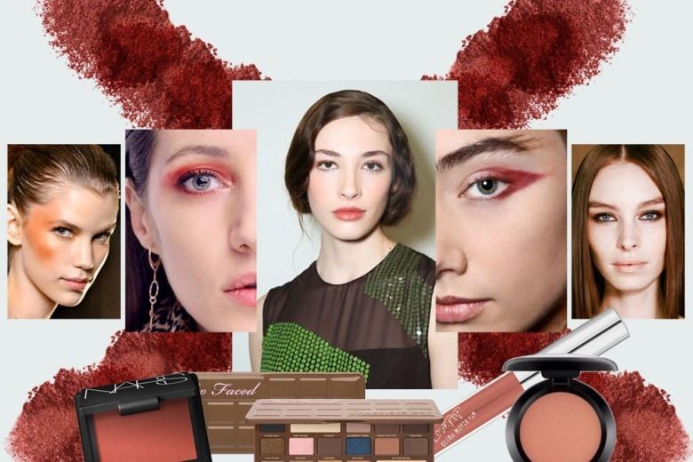 Trucco rosso mattone: il beauty look caldo da provare ora