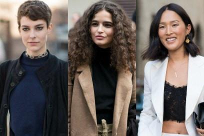 Capelli: tagli e acconciature da street style Milano Fashion Week 2017