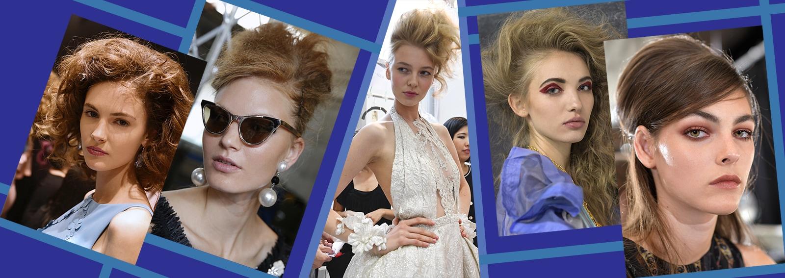 capelli cotonati tra anni '60 e '80 per la primavera estate