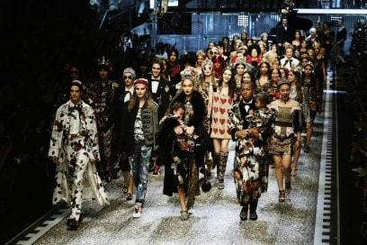La sfilata di Dolce & Gabbana per l'Autunno-Inverno 2017