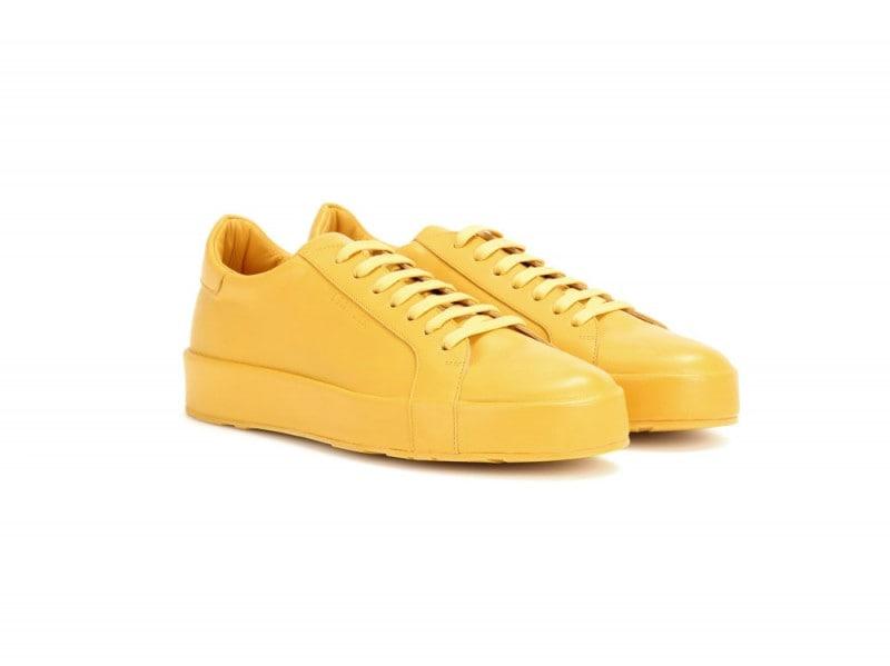 jil-sander-sneakers-gialle-pelle