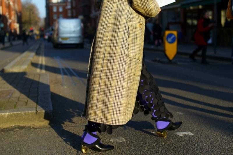 london street style 17 cappotto quadri