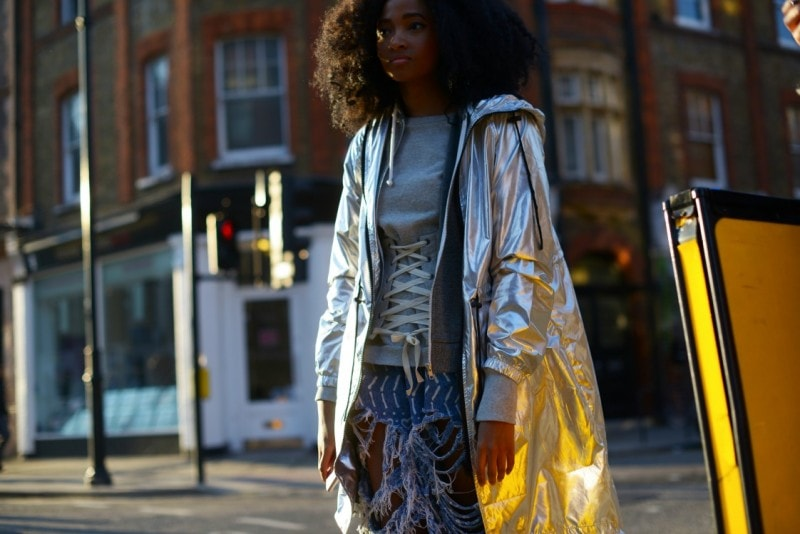 london street style 17 giacca argento