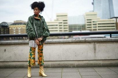 londra street style pantaloni stampa