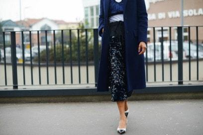 milano fashion week 17 gonna paillettes