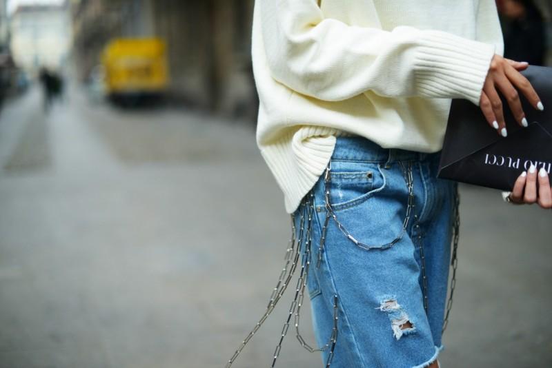 milano street style 17 catene jeans