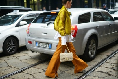 milano street style panta arancioni