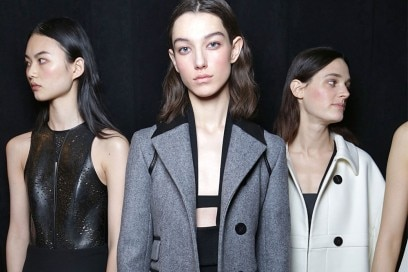 Narciso Rodriguez Autunno Inverno 2017 2018: il backstage beauty