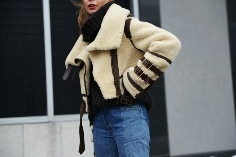 new york 17 shearling giacca