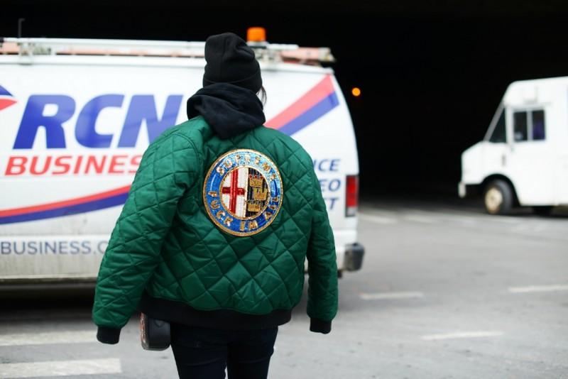new york street 17 style logo bomber