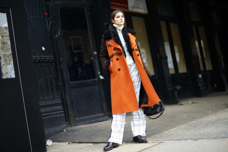 new york street style 17 cappotto arancione