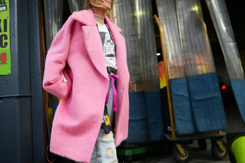 new york street style 17 cappotto rosa