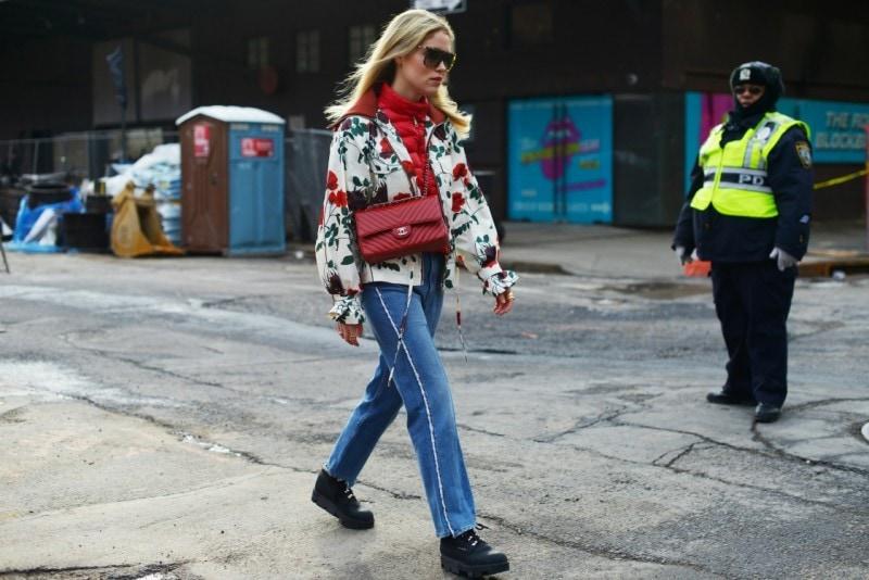 new york street style 17 giacca fiori stivaletti montagna