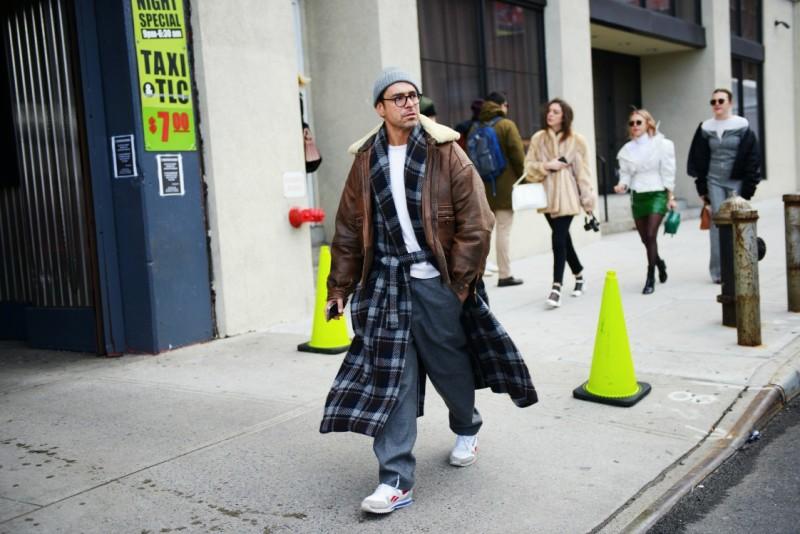 new york street style 17 uomo doppia giacca