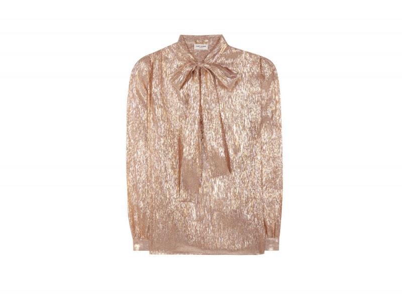saint-laurent-camicia-bow-tie