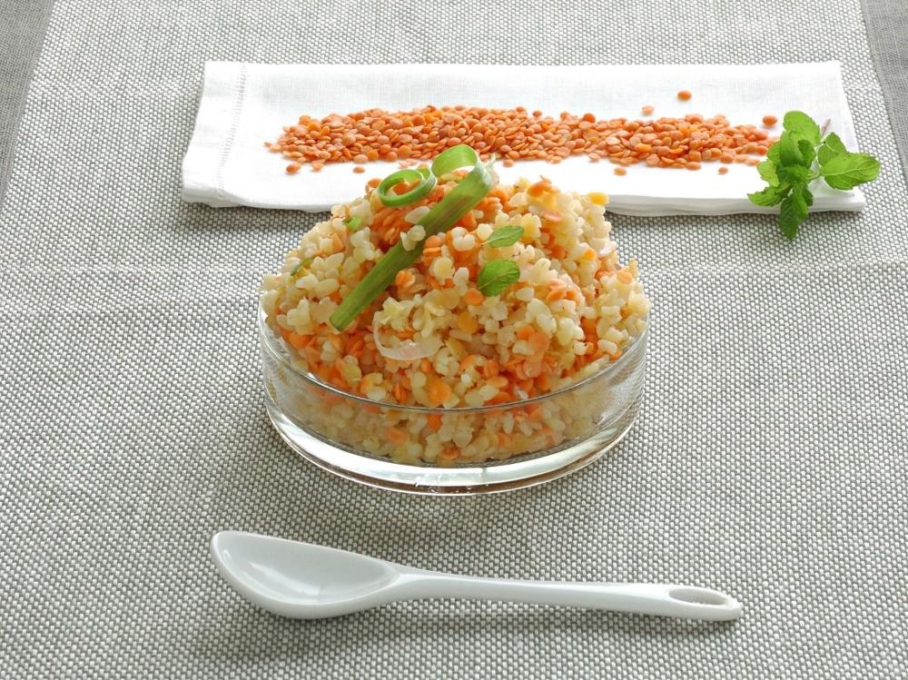 Burghul con lenticchie rosse