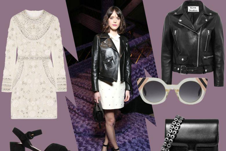 Stacy Martin in Miu Miu: il look glam-rock da copiare