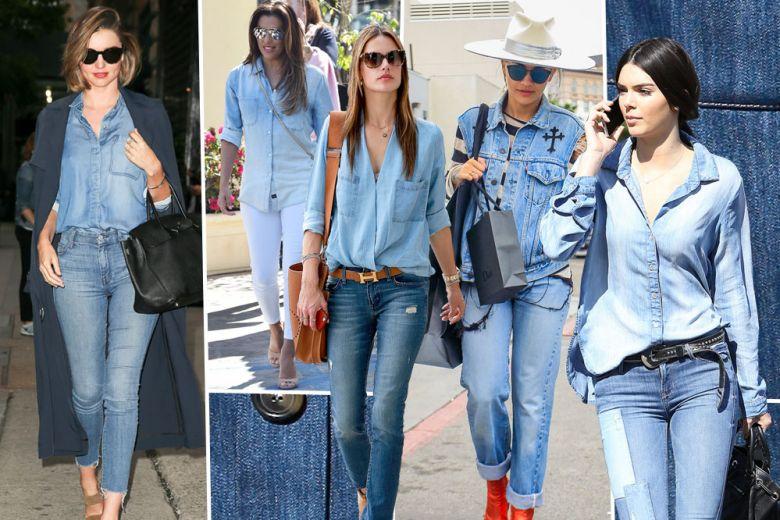 Tendenza jeans: i total look in denim preferiti dalle star