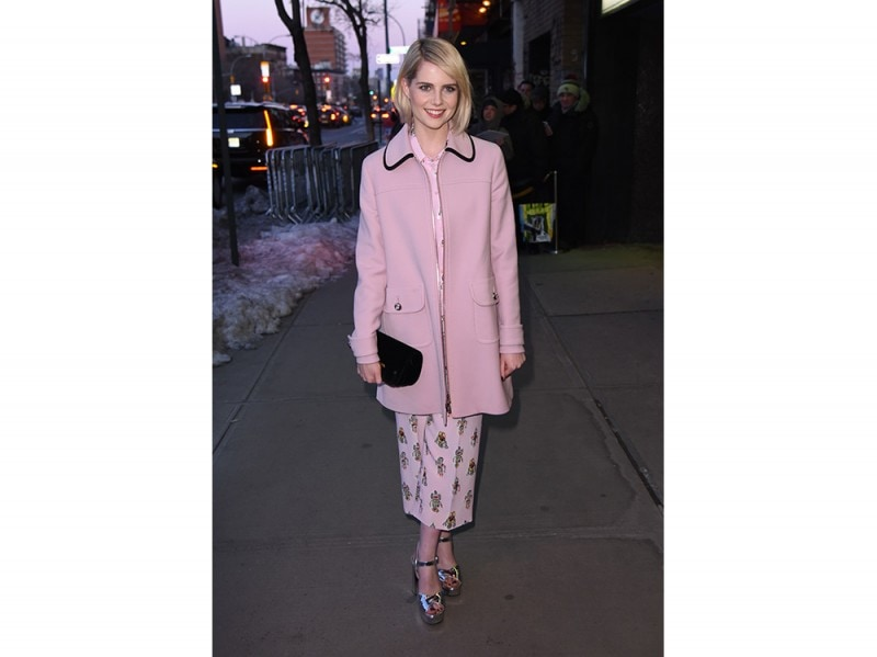 Lucy-Boynton-in-Prada-splash