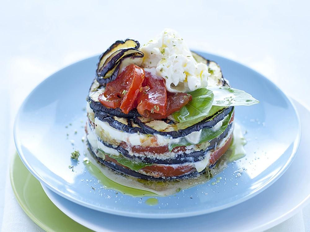 Parmigiana di melanzane non fritte