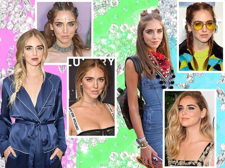 chiara ferragni capelli trucco beauty look collage_mobile