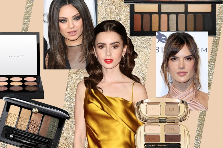Smokey eyes marrone e oro: ispiratevi alle star