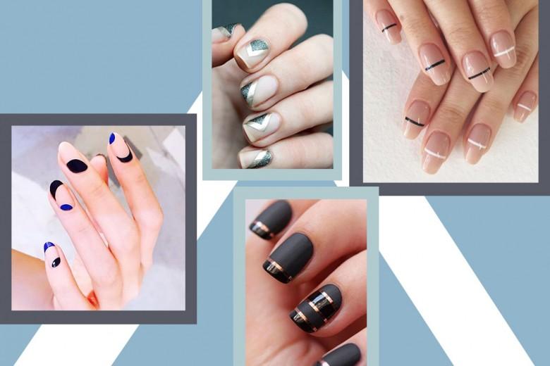 Nail art geometriche: il trend unghie in stile minimal