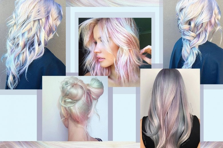 Capelli opal hair, la tendenza colore per capelli olografici