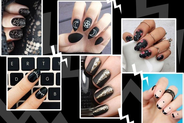 Nail art black, unghie nere per una dark manicure