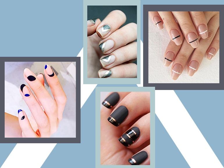 Nail art geometriche: il trend per unghie in stile minimal
